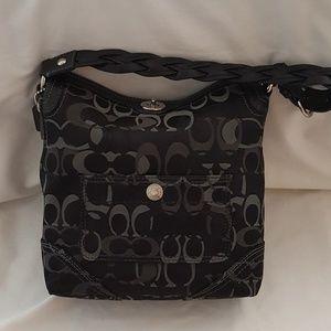 Coach Optic Chelsea Hobo Black/Gray Handbag
